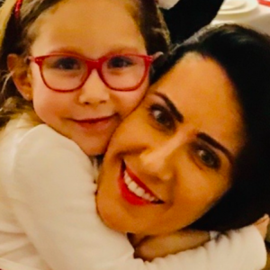 Agnieszka z córką